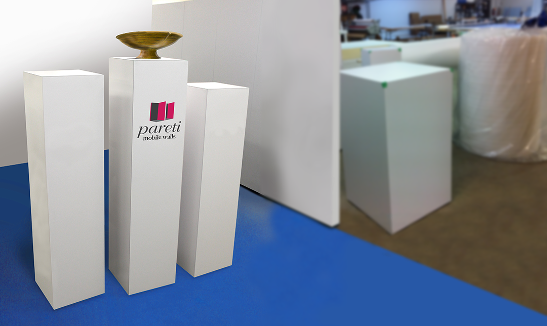 custom pedestals pareti mobile walls