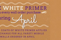 Get 2 Coats of White Primer Free in April!