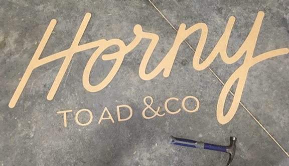 Get a FREE custom cut-out word or logo with your order in September!