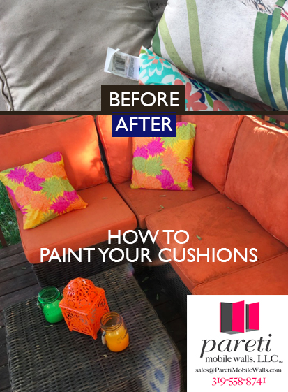 HOW TO PAINT YOUR CUSHIONS