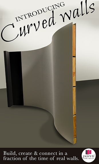 curved portable walls