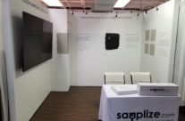 Samplize – when a heavy duty trade show wall is needed for displaying