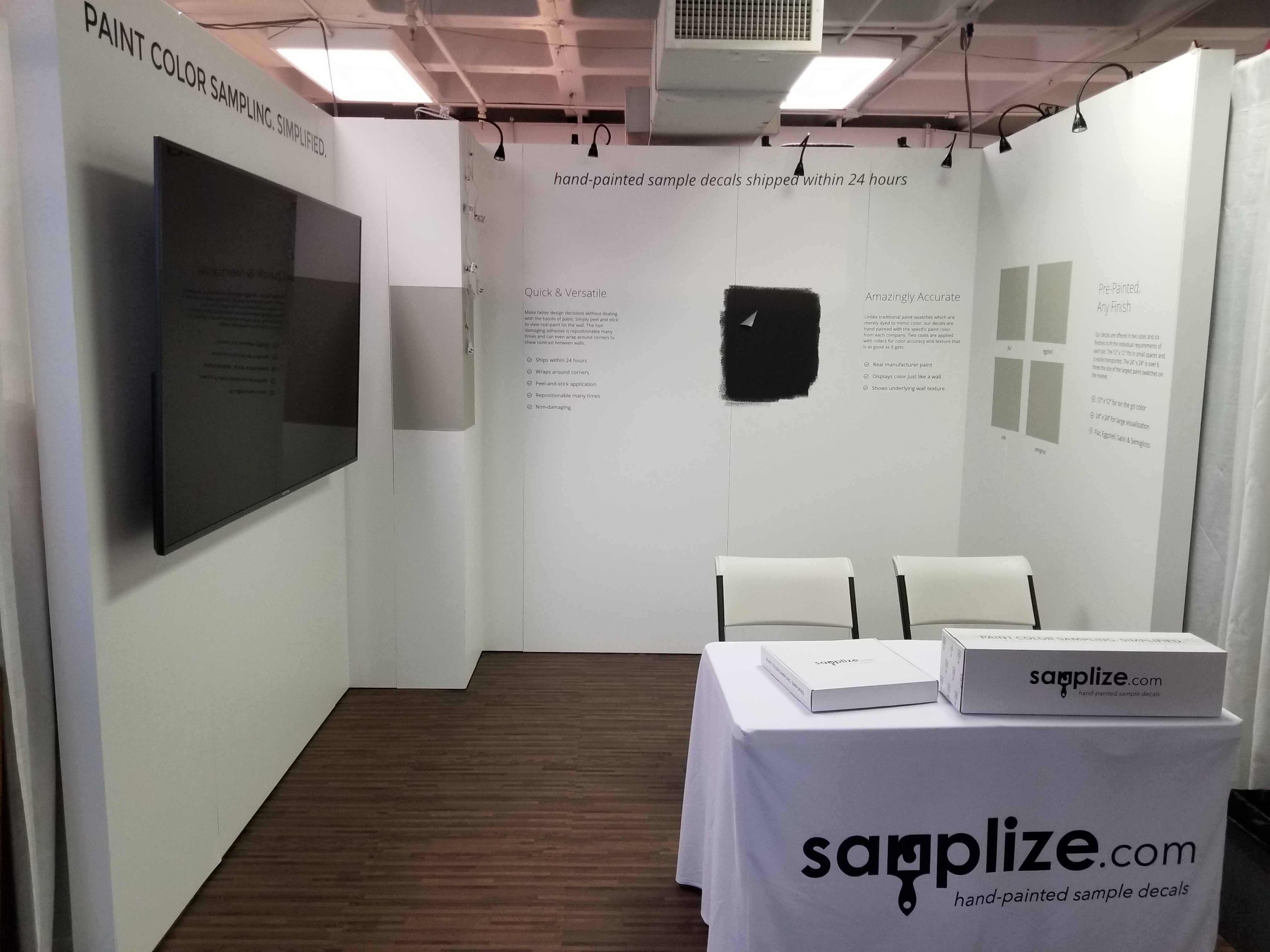 Samplize Uses Our Our Heavy Duty Trade Show Displays To Promote Their Paint  Swatch Samples.