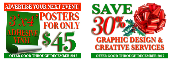 Graphic design discounts and adhesive vinyl poster printing